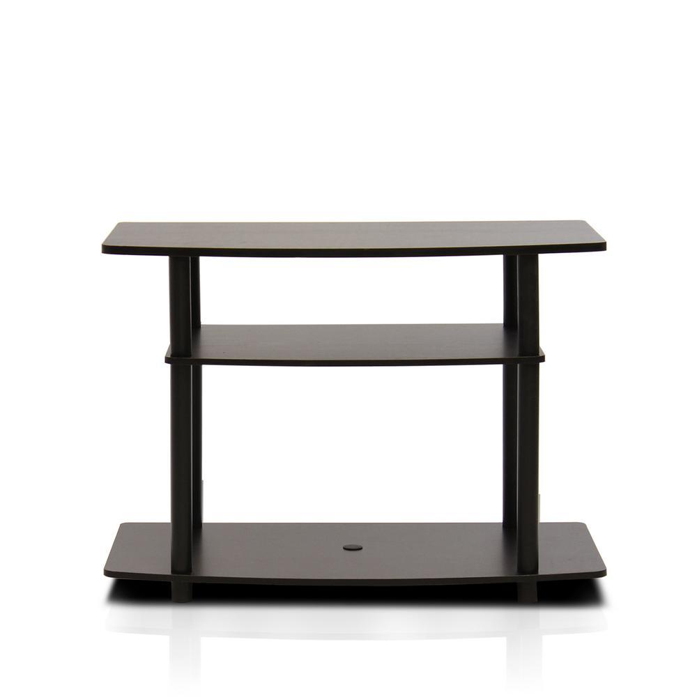 Turn-N-Tube Dark Brown 3-Shelf TV Stand