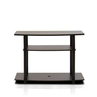 Turn-N-Tube Dark Brown 3-Shelf TV Stand