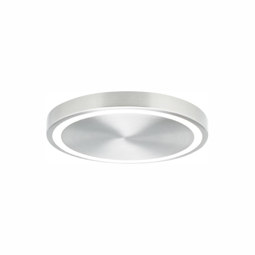 LBL Lighting Crest 12 30-Watt Satin Nickel Integrated LED Flush Mount Minimalist design and elegant engineering combine in the powerful Crest 12 LED ceiling light from LBL Lighting. A thin ring of light around the perimeter of the fixture creates beautifully geometric negative space.