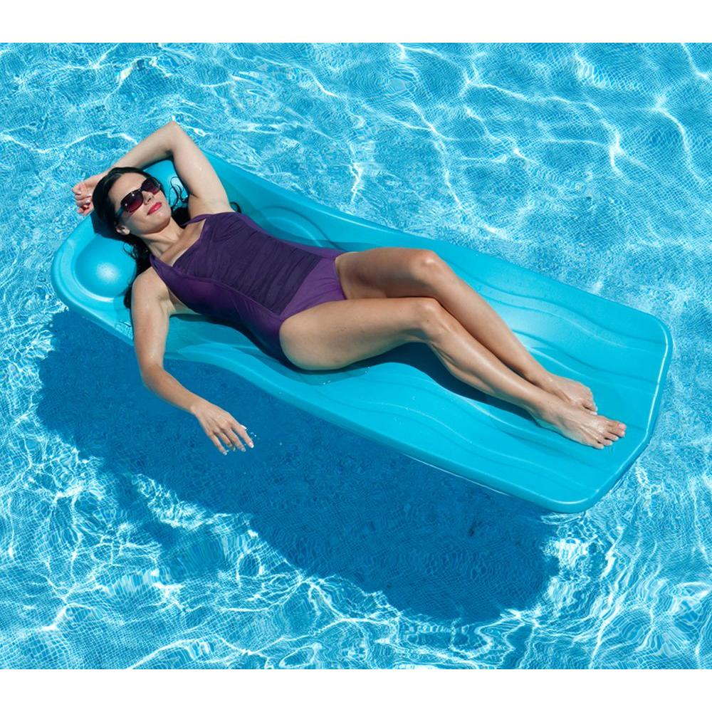 1.25 in. Thick Marquis Aqua (Blue) Pool Float