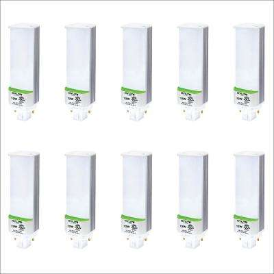 12W PL LED Lamp 32W/42W CFL Equivalent 4000K 1360 Lumens Ballast Bypass 120-277V UL Listed (10-Pack)