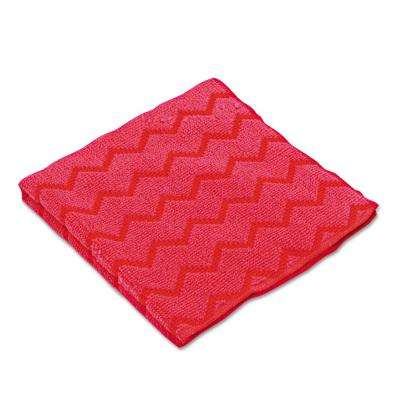 HYGEN 16 in. Microfiber General Purpose Red Cloth (Case of 12)
