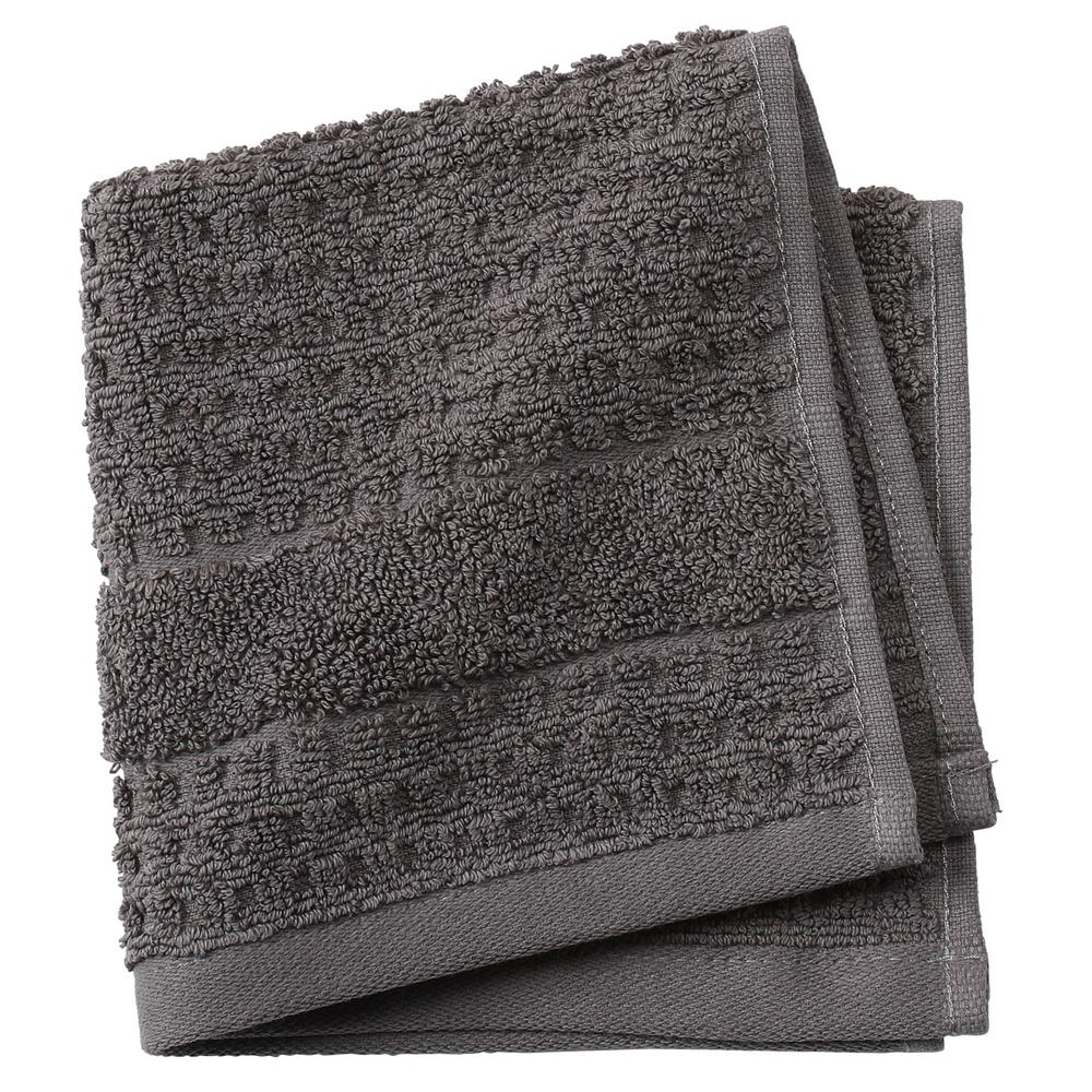 Home Decorators Collection Fairhope 1-Piece Turkish Face Towel in Charcoal
