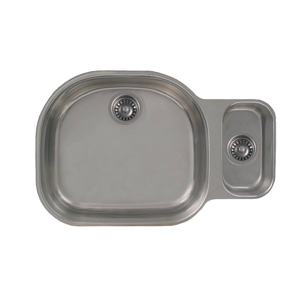 Whitehaus collection devonhaus all in one undermount stainless steel 32 in double bowl kitchen - American made stainless steel sinks ...