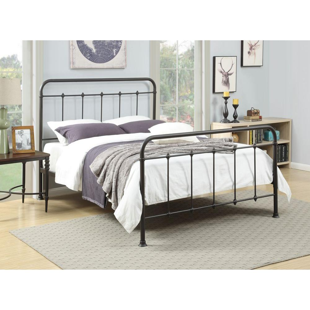pri all in 1 brown queen bed frame - Queen Bedroom Frames