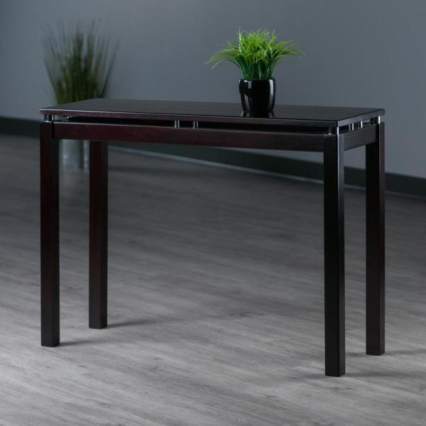 Winsome Wood Linea 40 In Espresso Rectangle Wood Console Table 92730 The Home Depot