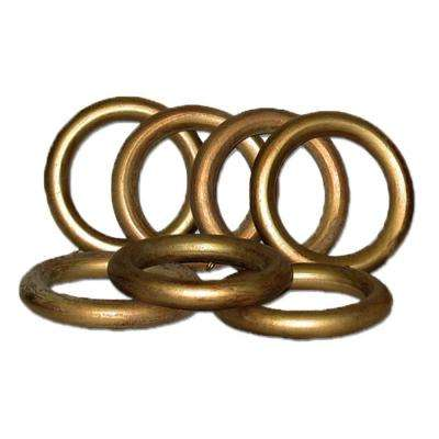 2 in. Historical Gold Wood Rings Set/7 For Use With 2 in. Or 2 1/4 in. Dia. Pole.