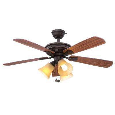 Westmount 44 in. Indoor Oil Rubbed Bronze Ceiling Fan with Light Kit