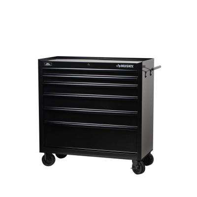 40 in. W 6-Drawer All Tool Cabinet, Black