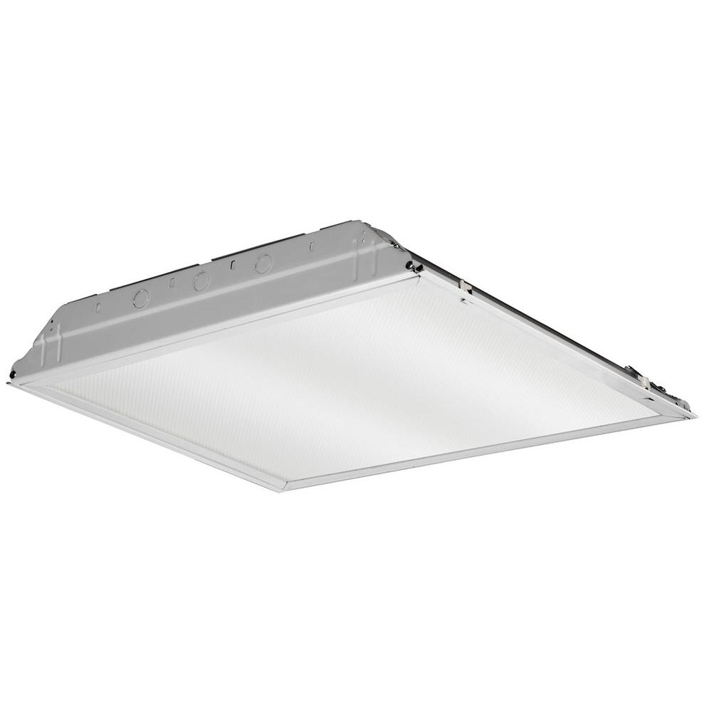 Lithonia Lighting 2 ft. x 2 ft. White Integrated LED Lay-In Troffer ...
