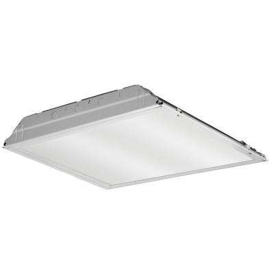 20 -Watt Matte White Integrated LED Lay-in Troffer 2 ft. x 2 ft. Prismatic Lens