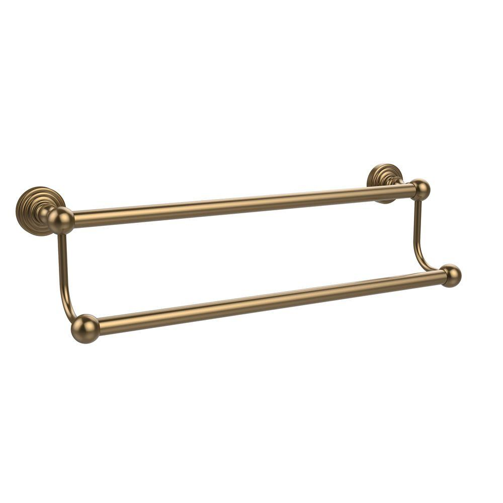 Waverly Place Collection 18 in. Double Towel Bar in Brushed Bronze