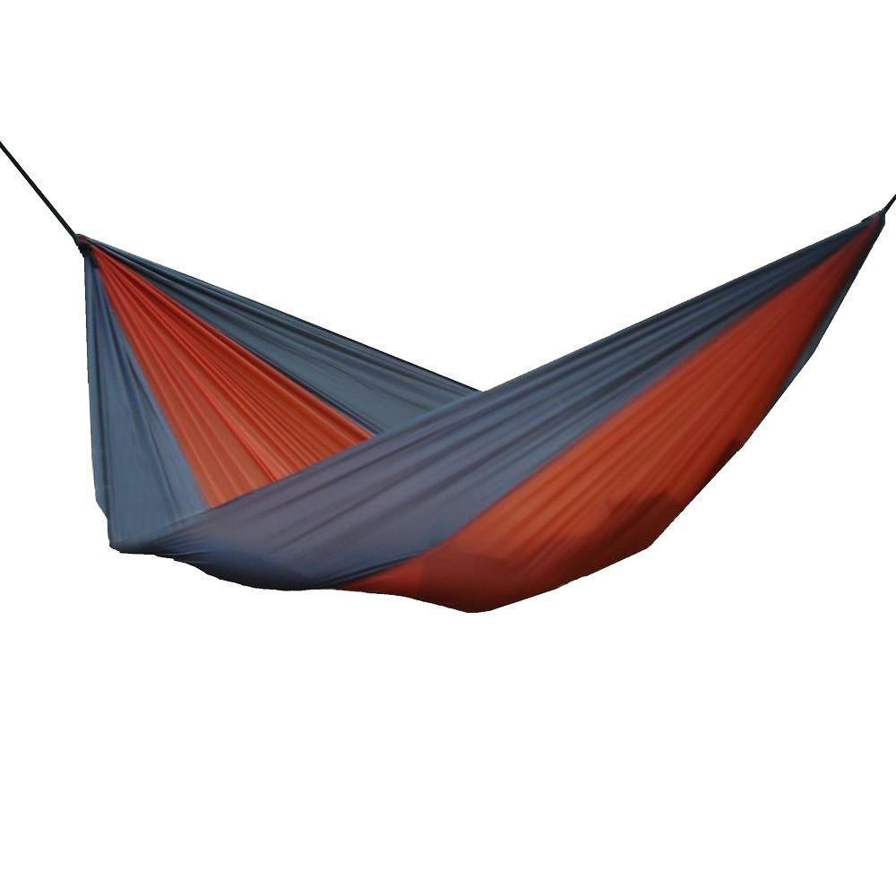 parachute double hammock in grey orange par26   the home depot vivere 10 ft  parachute double hammock in grey orange par26   the      rh   homedepot