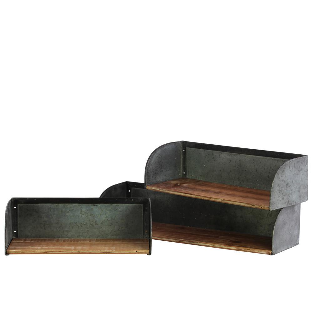 23.5 in. x 5 in. 1 Wood Wall Shelf