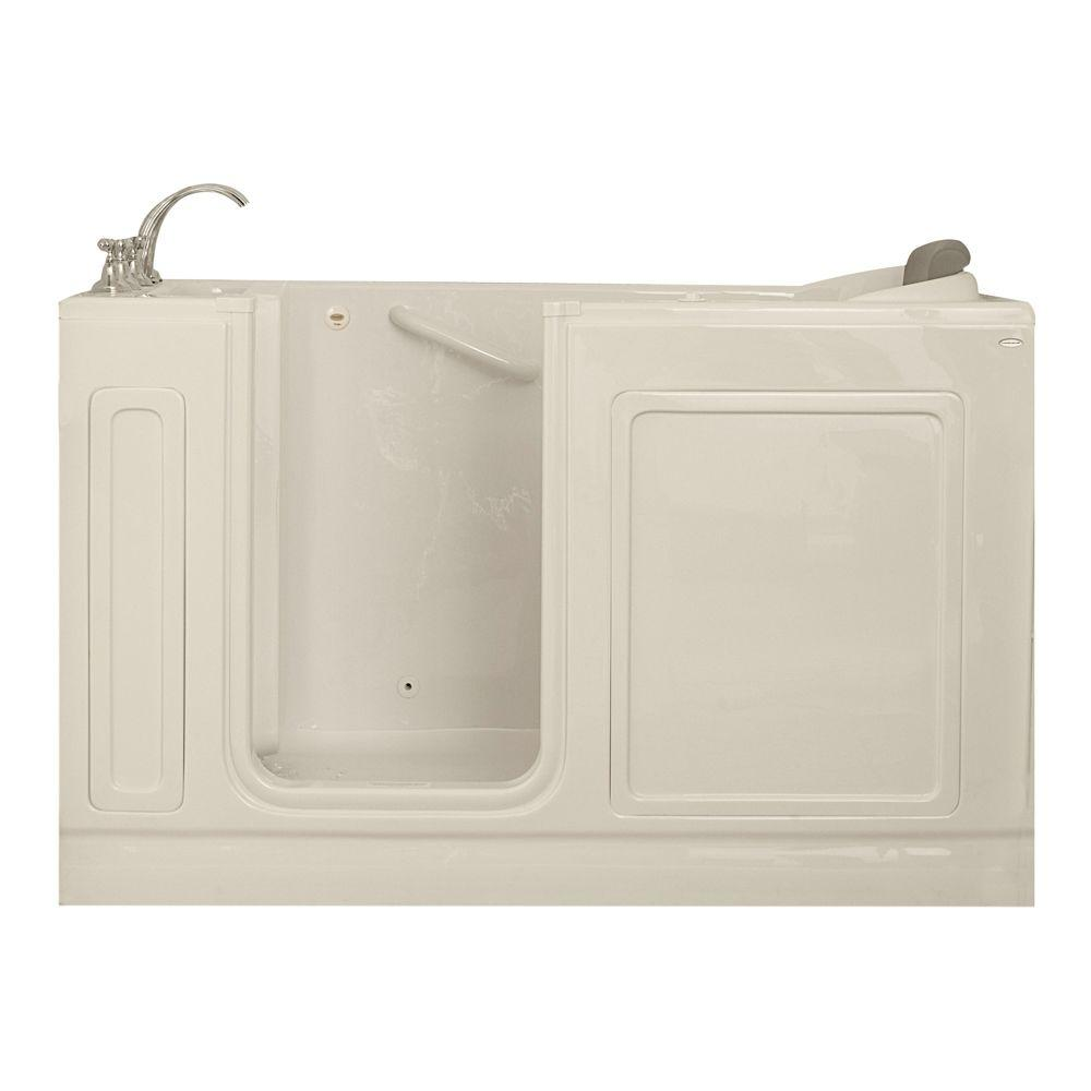 American Standard Acrylic Standard Series 60 in. x 32 in. Walk-In Whirlpool Tub with Quick Drain in Linen