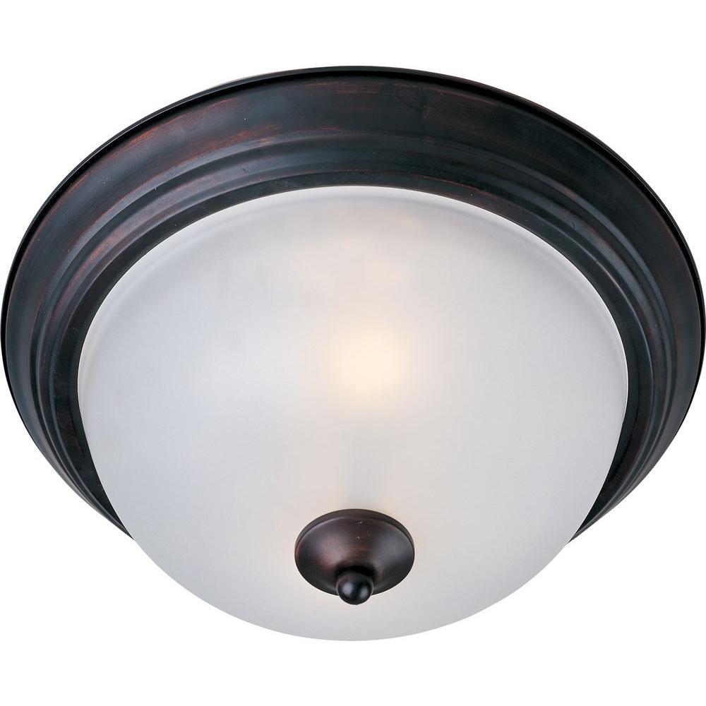 Essentials 3-Light Oil-Rubbed Bronze Flush Mount