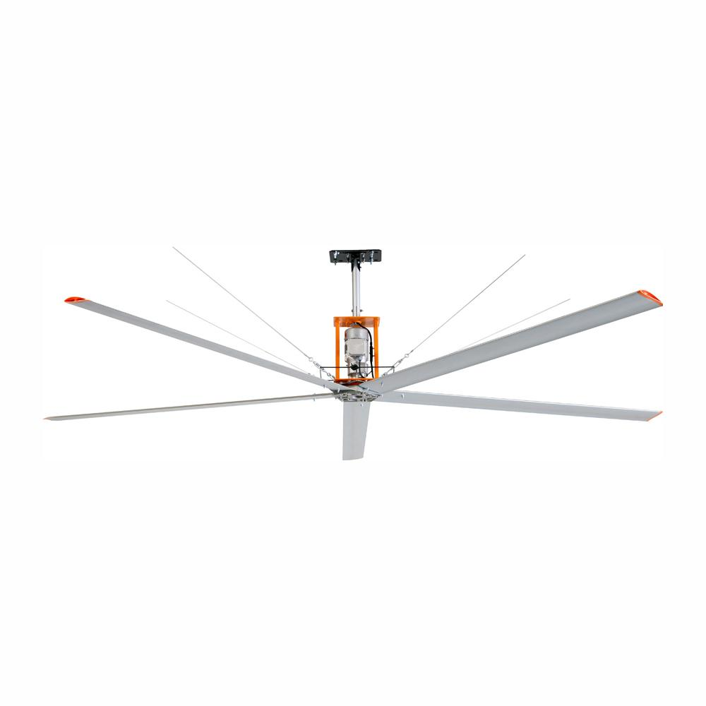 Commercial Electric 15 Ft Indoor Outdoor Silver Aluminum Industrial Shop Warehouse Ceiling Fan With Wall Control