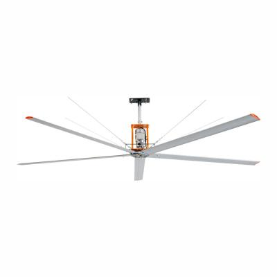 15 ft. Indoor/Outdoor Silver Aluminum Industrial Shop Warehouse Ceiling Fan with Wall Control