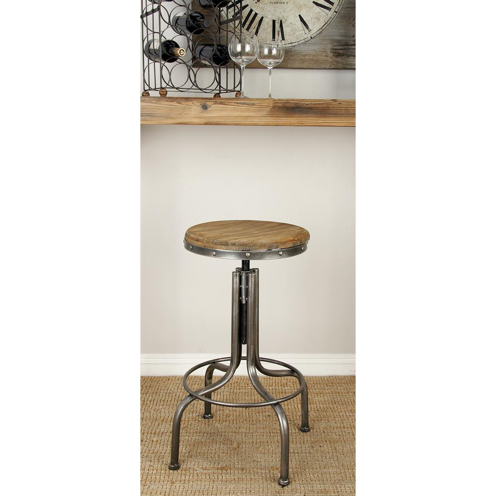 wooden seat bar stools. Gray Metal Bar Stool With Brown Wooden Seat Stools T