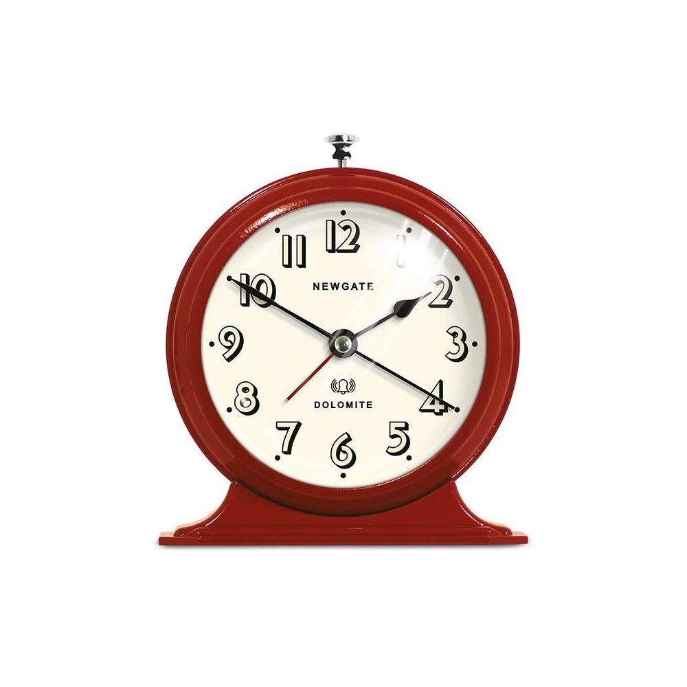 Home Decorators Collection 6.75 in. Dolomite Red Alarm Clock