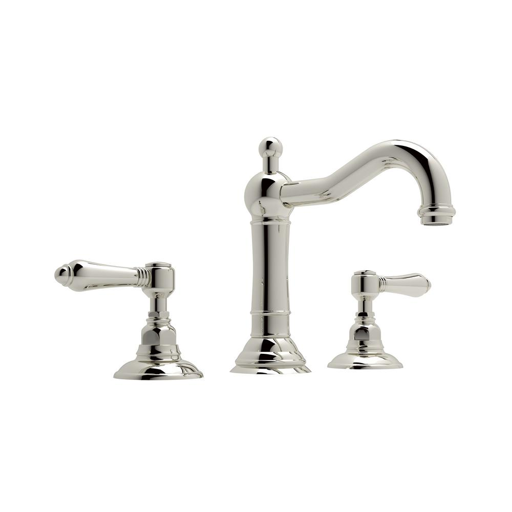 Rohl Acqui 8 in. Widespread 2-Handle Bathroom Faucet in Polished ...