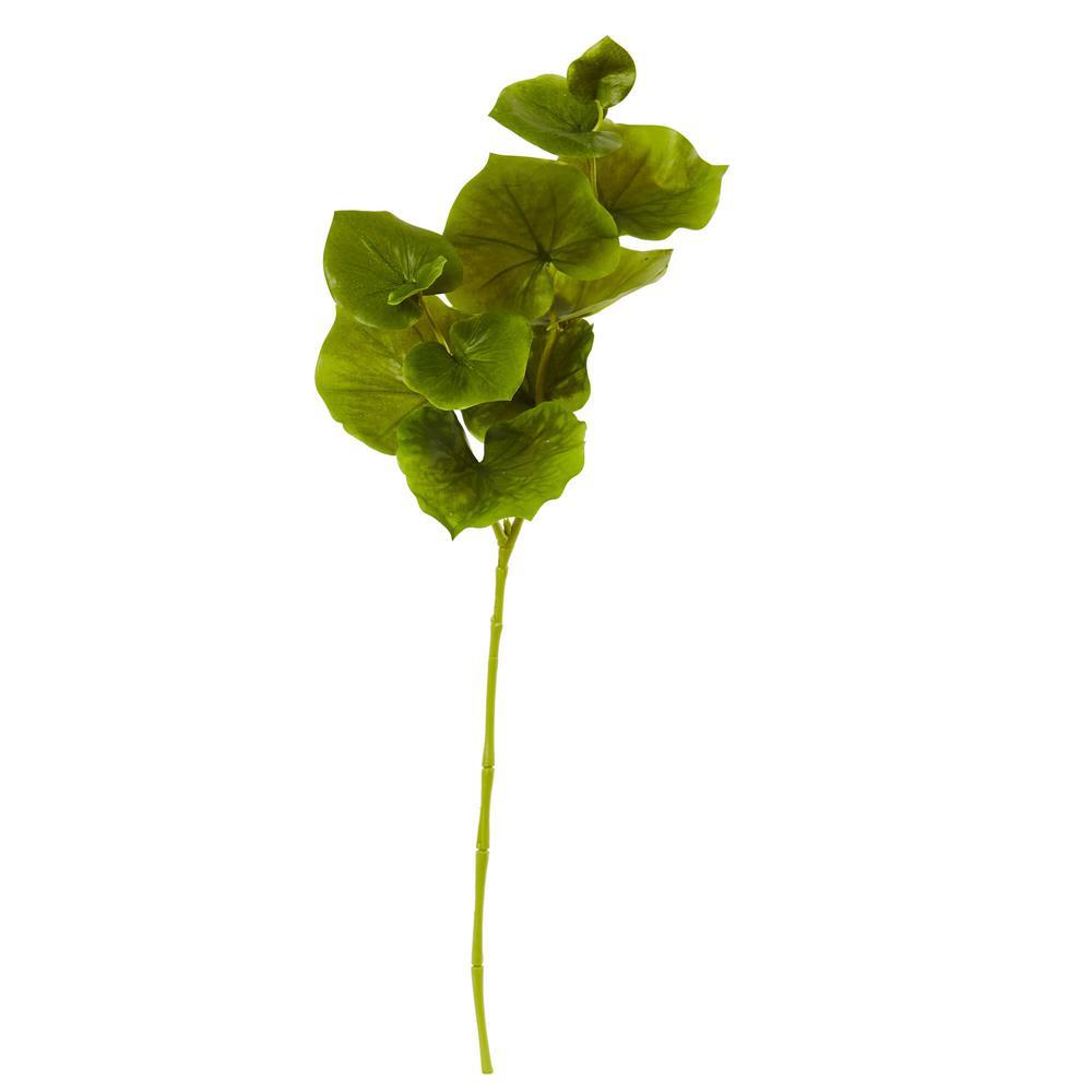 Indoor 29 in. Lotus Artificial Leaf (Set of 12)