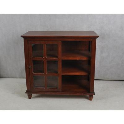 Archer Ridge Dark Brown Sliding Door Cabinet