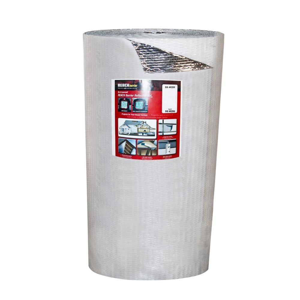 4 ft. x 250 ft. Single Reflective Insulation Roll with Si...
