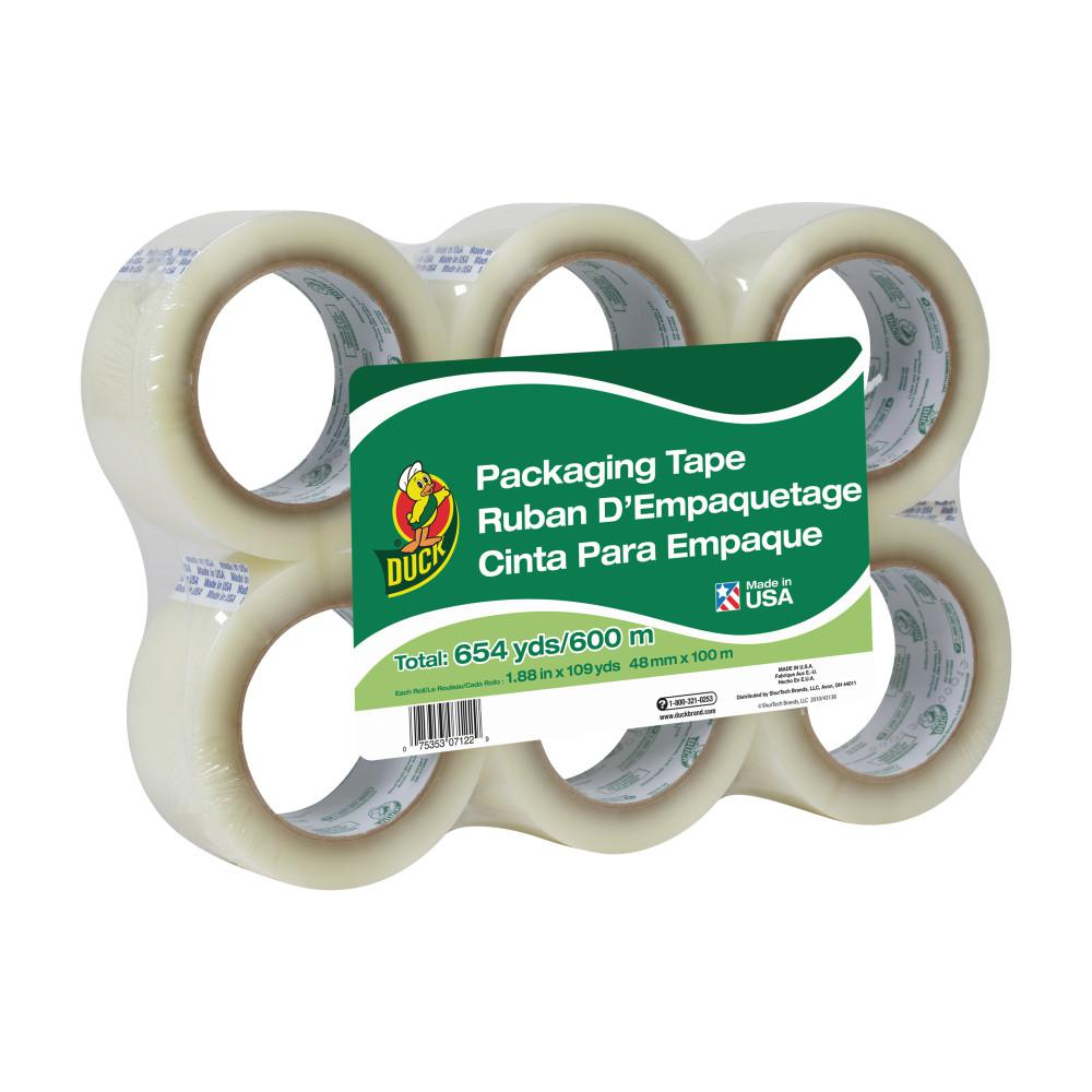 Duck 1.88 in. x 109 yd. Standard Packaging Tape, Clear (6-Pack)
