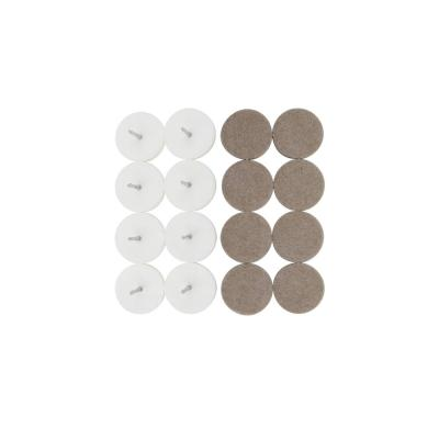 1-1/8 in. Heavy-Duty Beige Felt Round Glides for Hard Flooring (8-Pack)