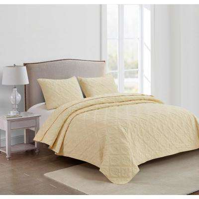 Beside the Bay Yellow Twin Quilt Set