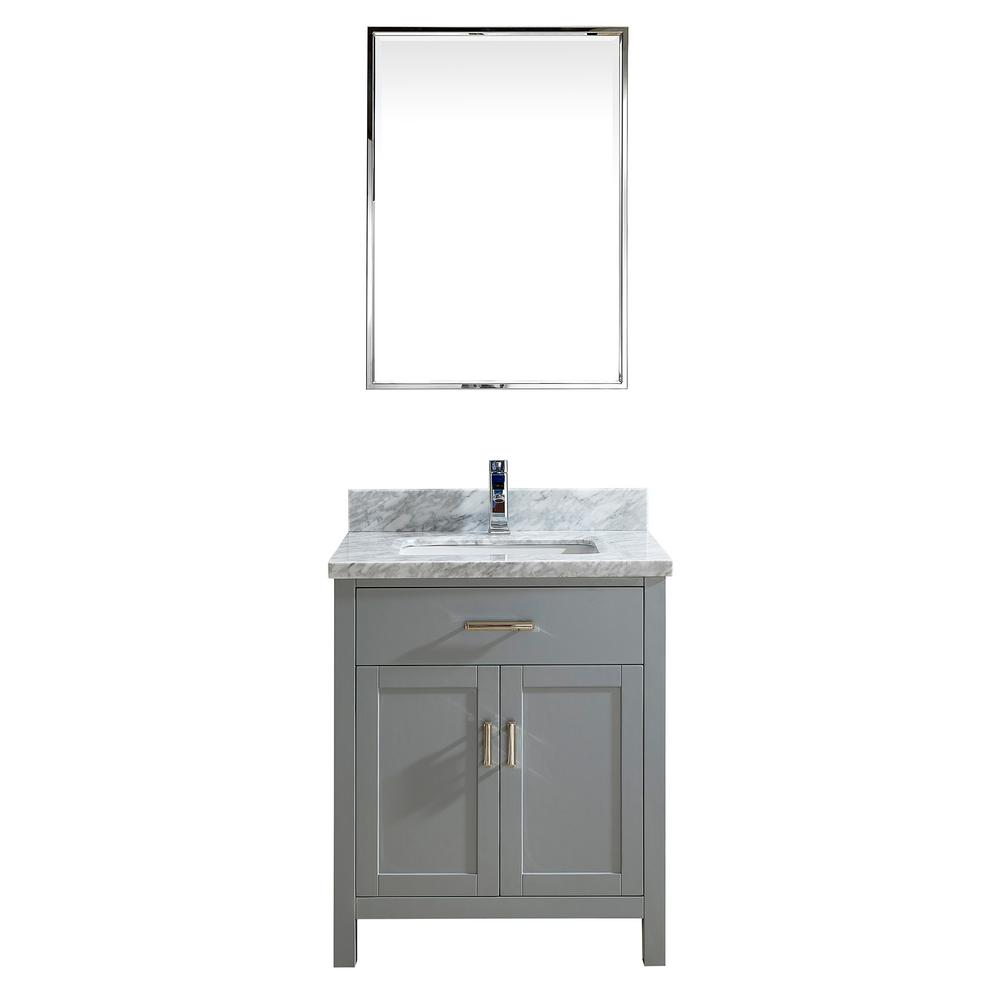 Studio Bathe Kalize II 30 In. W X 22 In. D Vanity In Oxford Gray With  Marble Vanity Top In Gray With White Basin And Mirror-KALIZE II 30  OXFORD-CARRERA