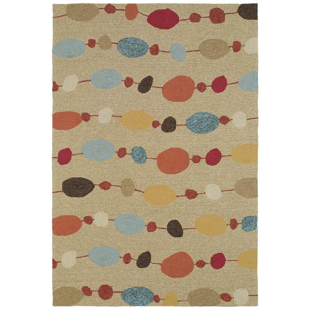 Kaleen Habitat Buoy Sand 9 ft. x 12 ft. Indoor/Outdoor Area Rug