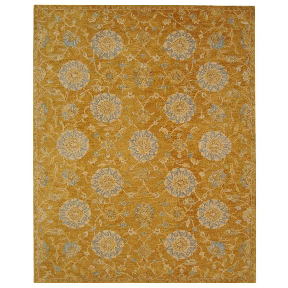 Anatolia Gold/Blue 6 ft. x 9 ft. Area Rug