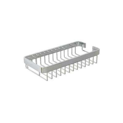 Aluminum 3 in. H x 11.75 in. W x 5.5 in. D Chunky Cosmetic Basket in Chrome
