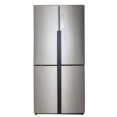 16.4 cu. ft. Quad French Door Freezer Refrigerator in Stainless Steel