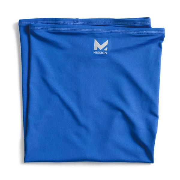 Full-Face 1 in. x 4 in. Blue Polyester/Spandex Neck Gaiter