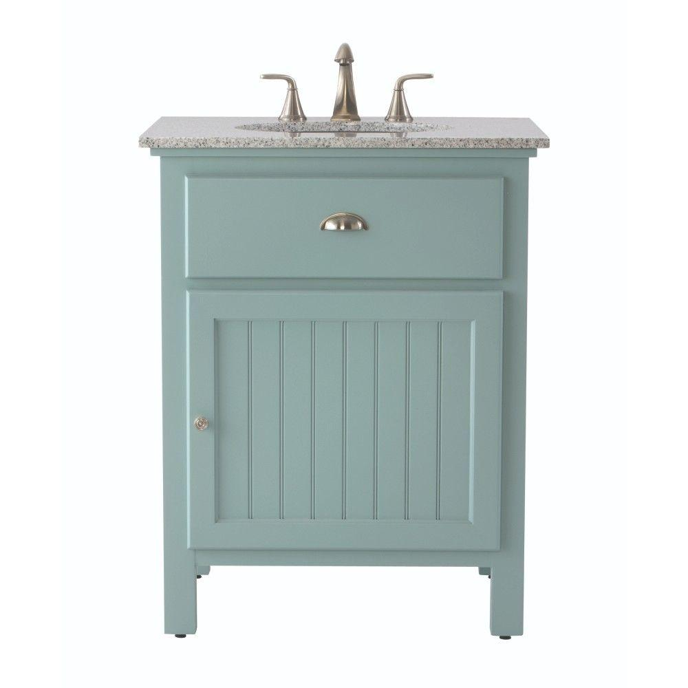 D Bath Vanity In Sea Glass With