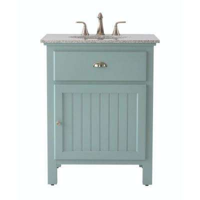 Ridgemore 28 in. W x 22 in. D Bath Vanity in Sea Glass with Granite Vanity Top in Grey