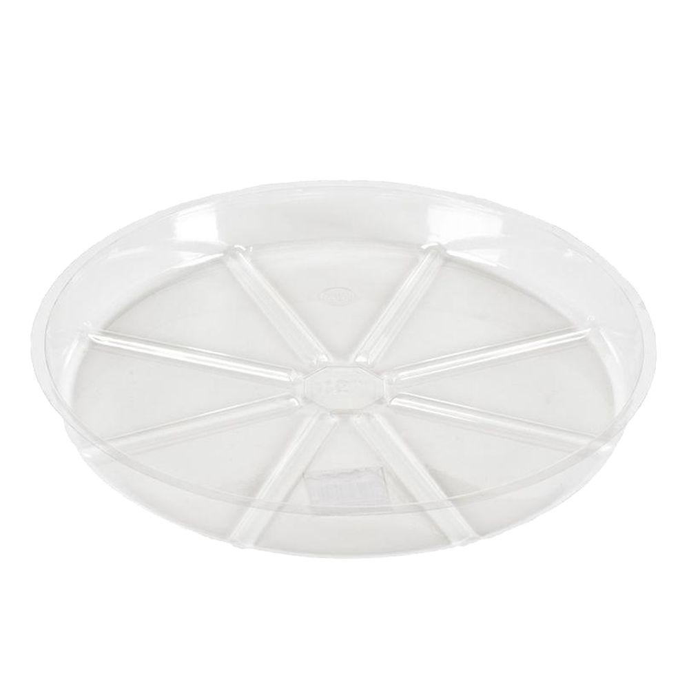 Vigoro 8 in. Clear Plastic Plant Saucer