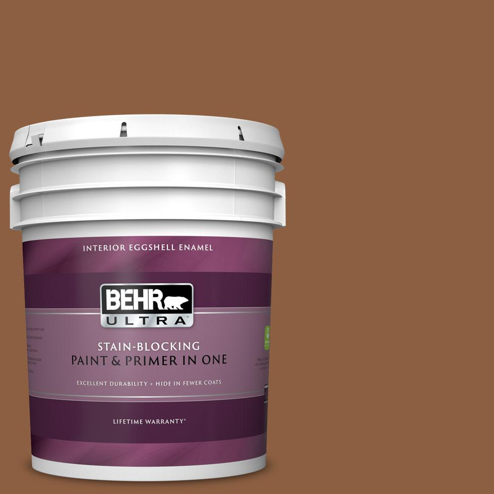 Behr Ultra 5 Gal 260f 7 Caramel Latte Eggshell Enamel Interior Paint And Primer In One 275305 The Home Depot