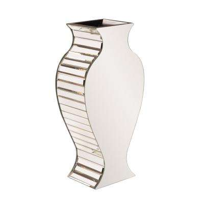 Small Rounded Mirrored Decorative Vase