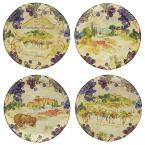 Vino 10.75 in. Multi-Colored Dinner Plate (Set of 4)