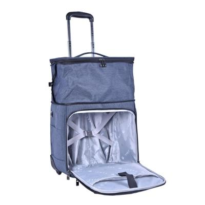 16 in. Top-Expandable Under Seater Carry-on with In-Line Blade Wheels an USB Charging Port (Battery Not Included)