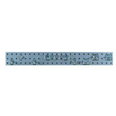 3/8 in. Silver Pegboard Wall Organizer Strip with Assortment (8-Piece)