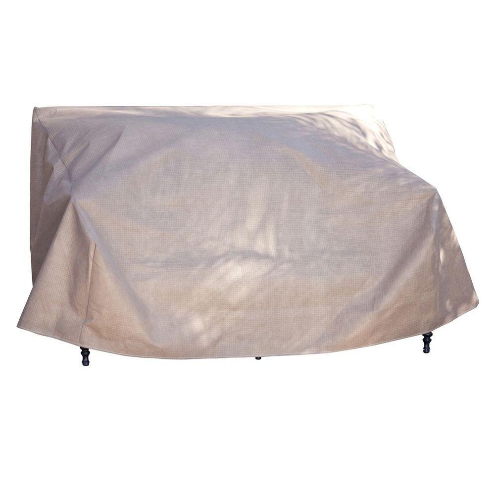 Duck Covers Elite 62 in W Patio Loveseat Cover with Inflatable Airbag to Pre