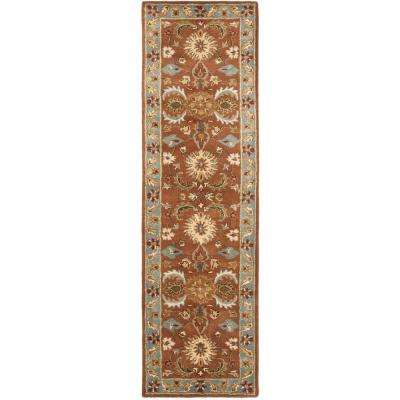 Heritage Brown/Blue 2 ft. x 18 ft. Runner Rug