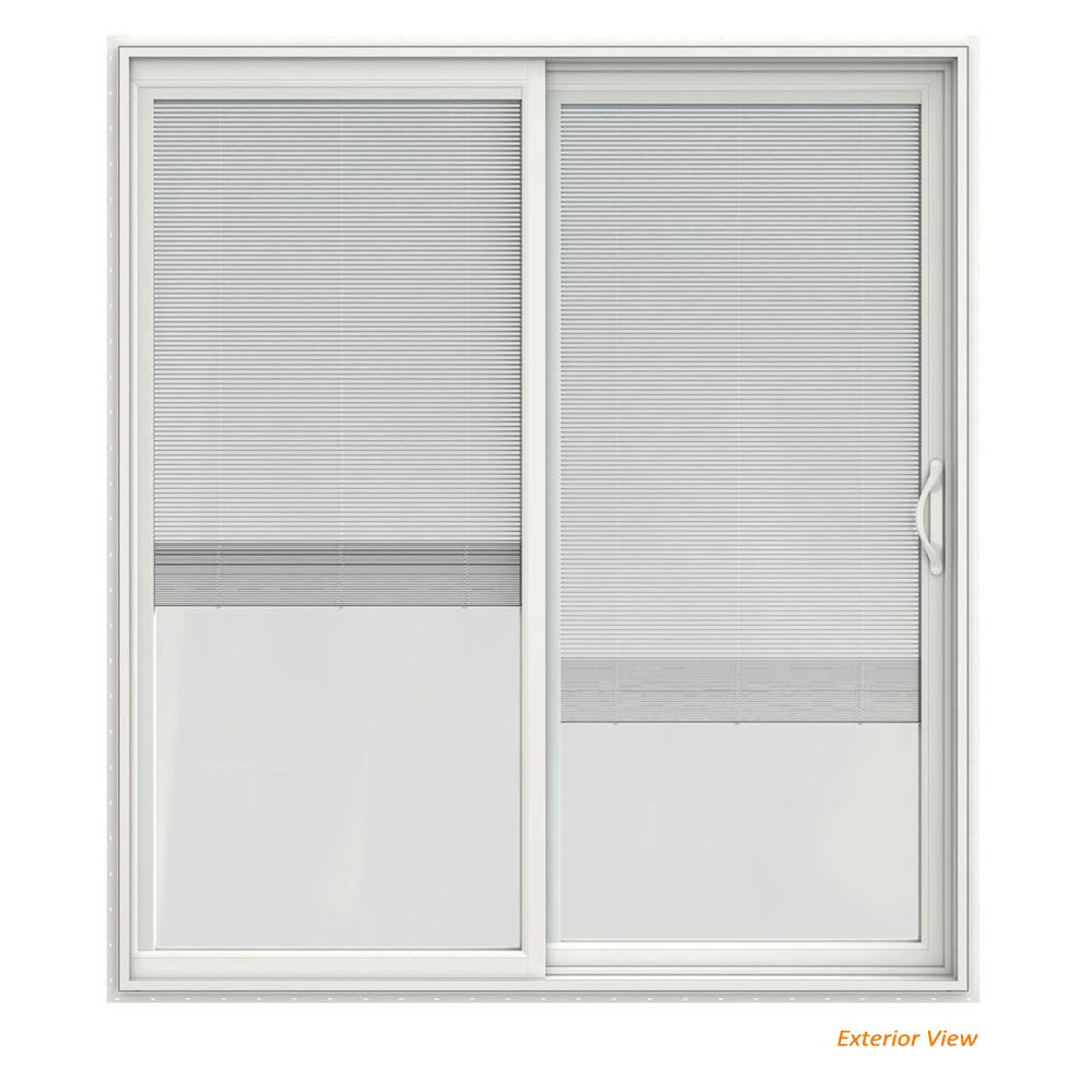 Jeld Wen 72 In X 80 In V 2500 White Vinyl Right Hand Full Lite
