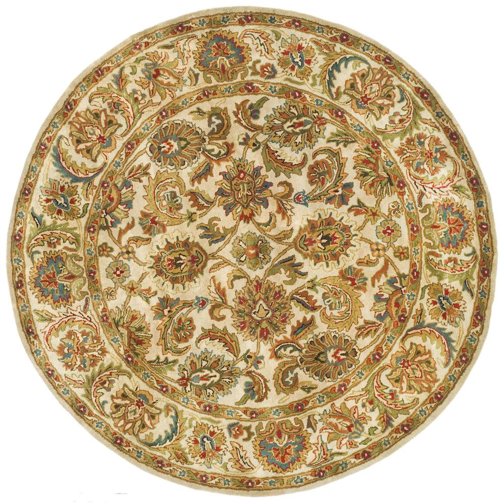 8 Ft Round Area Rug: Safavieh Classic Ivory 8 Ft. X 8 Ft. Round Area Rug-CL758A