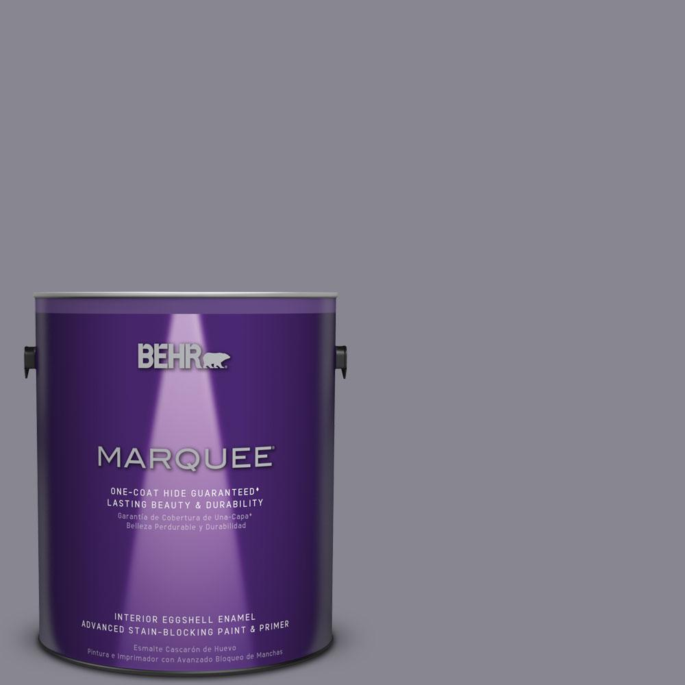 1 gal. #MQ5-3 Old Amethyst One-Coat Hide Eggshell Enamel Interior Paint